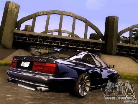 BMW 850 CSI para GTA San Andreas interior