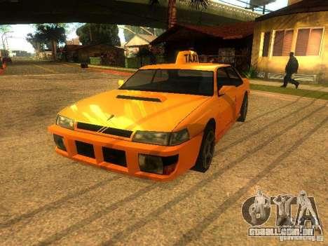 Taxi Sultan para GTA San Andreas esquerda vista