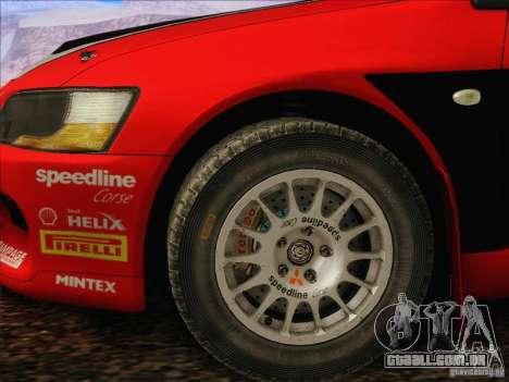 Mitsubishi Lancer Evolution IX Rally para GTA San Andreas vista interior