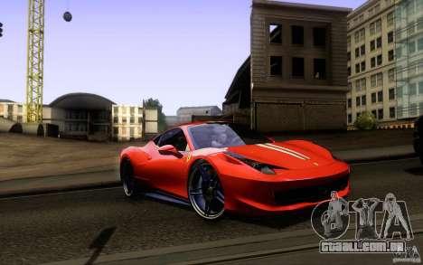 Ferrari 458 Italia Final para o motor de GTA San Andreas