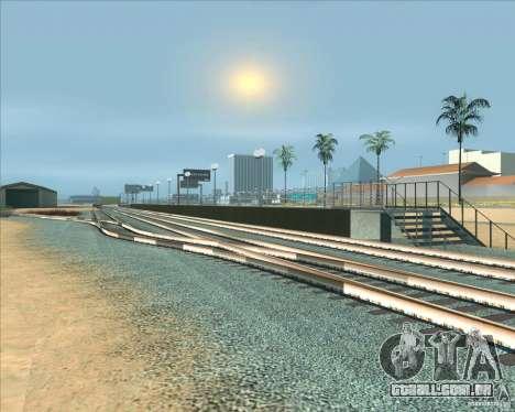 As plataformas elevadas em estações ferroviárias para GTA San Andreas sexta tela