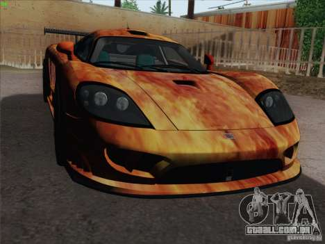 Saleen S7 Twin Turbo Competition Custom para GTA San Andreas vista superior