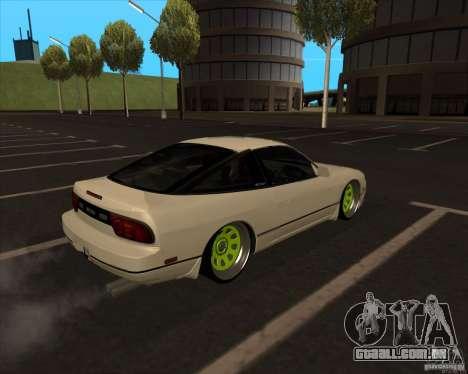 Nissan 180SX JDM para GTA San Andreas vista traseira