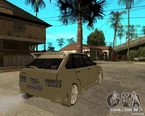 ВАЗ 2114 Mechenny para GTA San Andreas traseira esquerda vista