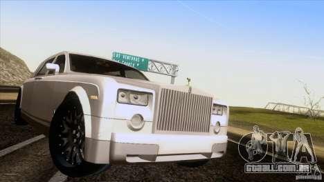 Rolls Royce Phantom Hamann para GTA San Andreas vista traseira