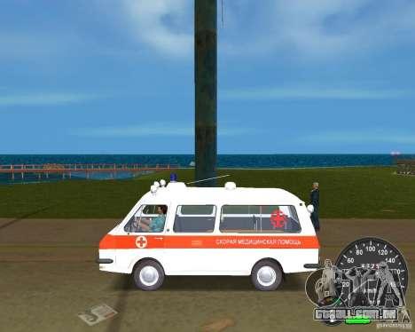 RAF 2203 ambulância para GTA Vice City vista direita