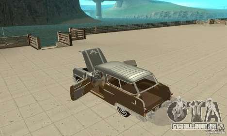 Pontiac Safari 1956 para GTA San Andreas vista interior