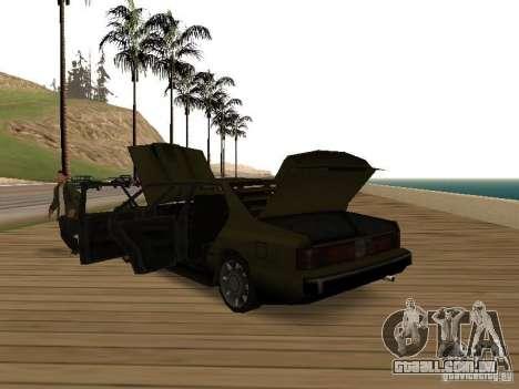 Sentinel XS para GTA San Andreas vista direita
