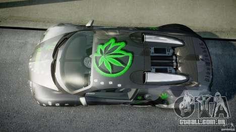Bugatti Veyron 16.4 v1.0 new skin para GTA 4 vista direita