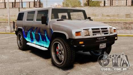 Patriota no estábulo do fogo azul para GTA 4