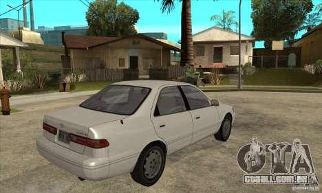 Toyota Camry 2.2 LE 1997 para GTA San Andreas vista direita