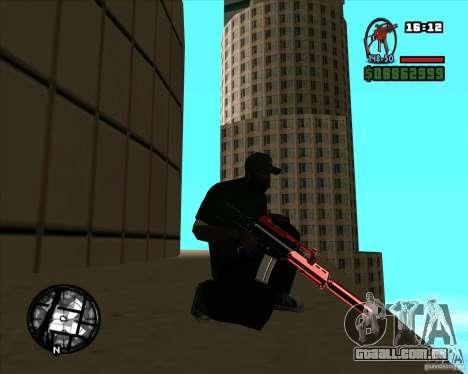 Chrome black red gun pack para GTA San Andreas segunda tela