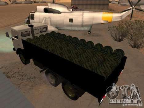 KAMAZ 53212 aberto para GTA San Andreas traseira esquerda vista