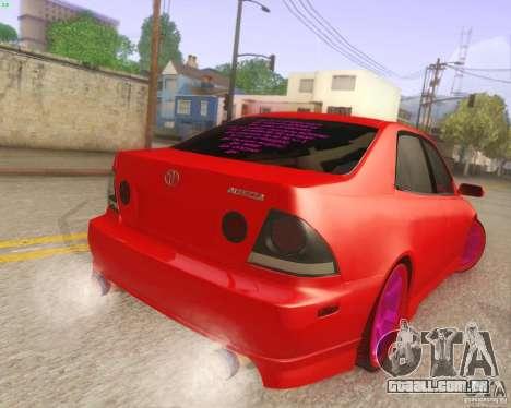 Toyota Altezza Drift Style v4.0 Final para GTA San Andreas vista direita