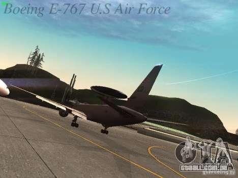 Boeing E-767 U.S Air Force para GTA San Andreas vista direita