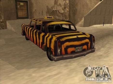 Zebra Cab de Vice City para GTA San Andreas vista traseira