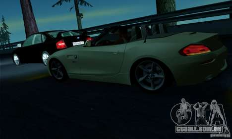BMW Z4 2010 para GTA San Andreas interior