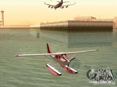 Opção de água Cessna 152 para GTA San Andreas traseira esquerda vista