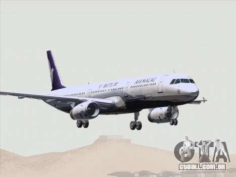 Airbus A321 Air Macau para as rodas de GTA San Andreas