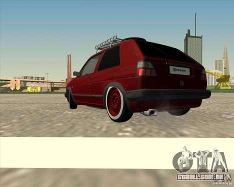 VW Golf II Shadow Crew para GTA San Andreas esquerda vista