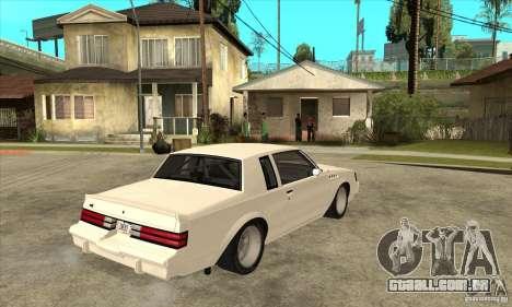 Buick Regal Grand National GNX para GTA San Andreas vista direita
