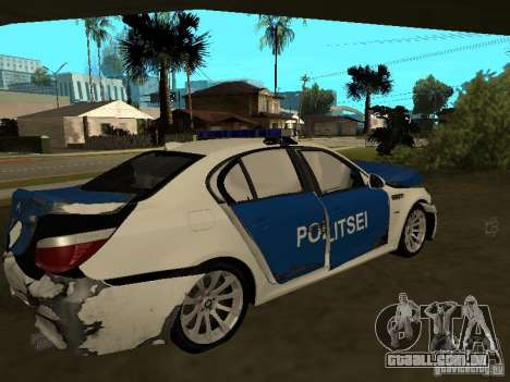 BMW 5-er Police para GTA San Andreas vista inferior