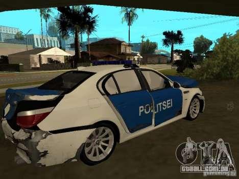 BMW 5-er Police para GTA San Andreas vista inferior