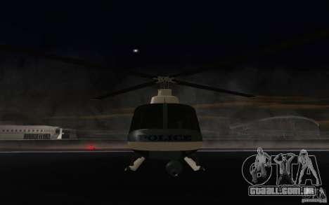 GTA IV Police Maverick para GTA San Andreas esquerda vista