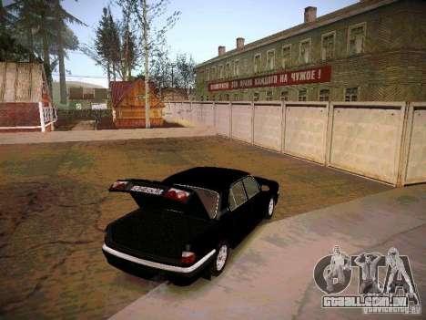 GAZ Volga 31105 S60 para GTA San Andreas vista interior