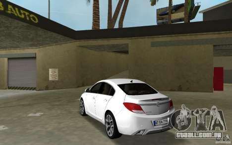 Opel Insignia para GTA Vice City vista traseira esquerda