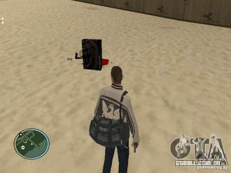 Pedy com sacos e telefones para GTA San Andreas segunda tela