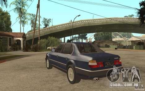 BMW 735Li e32 para GTA San Andreas traseira esquerda vista