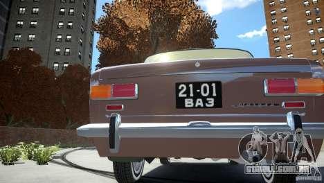 Estoque de 2101 VAZ para GTA 4 traseira esquerda vista