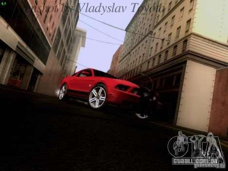 Ford Mustang GT 2011 para GTA San Andreas vista traseira