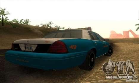 Ford Crown Victoria Georgia Police para GTA San Andreas esquerda vista
