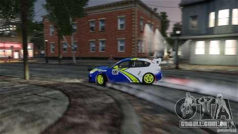 Subaru Impreza WRX STI Rallycross BFGoodric para GTA 4 interior