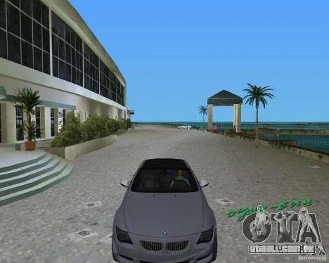 BMW M6 para GTA Vice City deixou vista