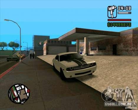 Dodge Challenger para GTA San Andreas esquerda vista