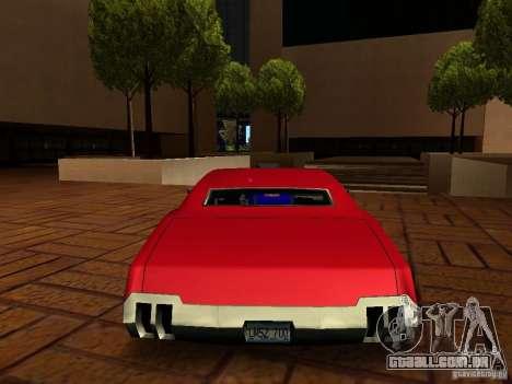 Charger Sabre para GTA San Andreas esquerda vista