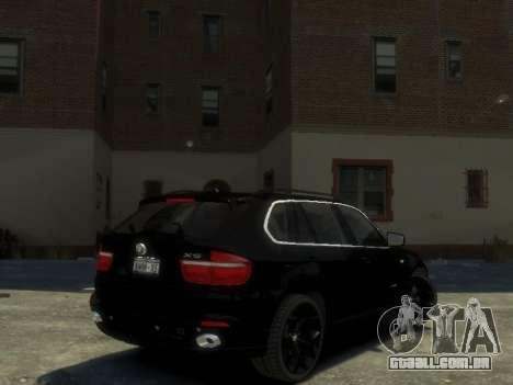BMW X5 para GTA 4 traseira esquerda vista