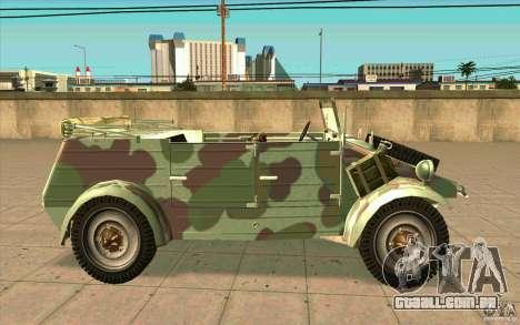 Kuebelwagen para GTA San Andreas esquerda vista