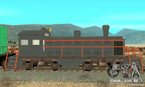 Lokomotive para GTA San Andreas esquerda vista
