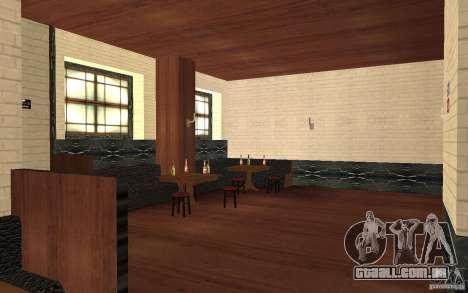 Um novo bar em Gantone v. 2 para GTA San Andreas por diante tela