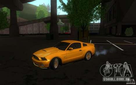 Ford Mustang GT V6 2011 para GTA San Andreas esquerda vista
