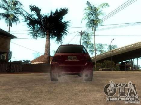 Serrano Stock para GTA San Andreas traseira esquerda vista
