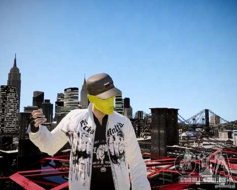 Niko The Mask para GTA 4 quinto tela