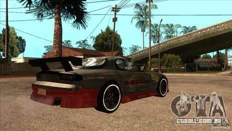 Mazda RX7 Tuned para GTA San Andreas vista direita