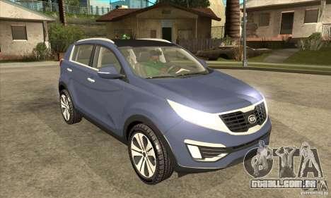 Kia Sportage 2011 HKV para GTA San Andreas vista traseira