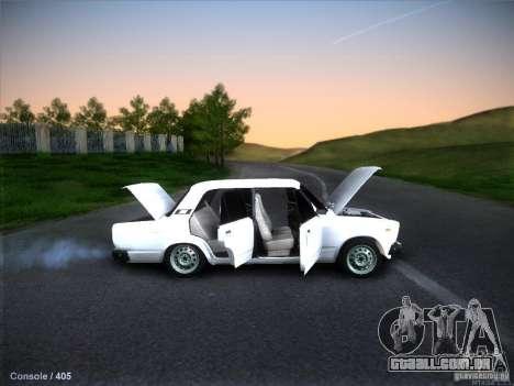 2105 Vaz estoque qualidade para GTA San Andreas vista interior