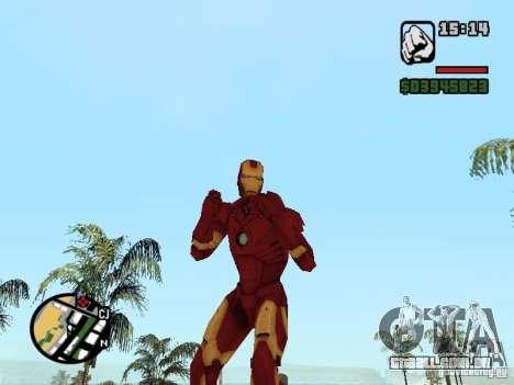Iron man 2 para GTA San Andreas segunda tela